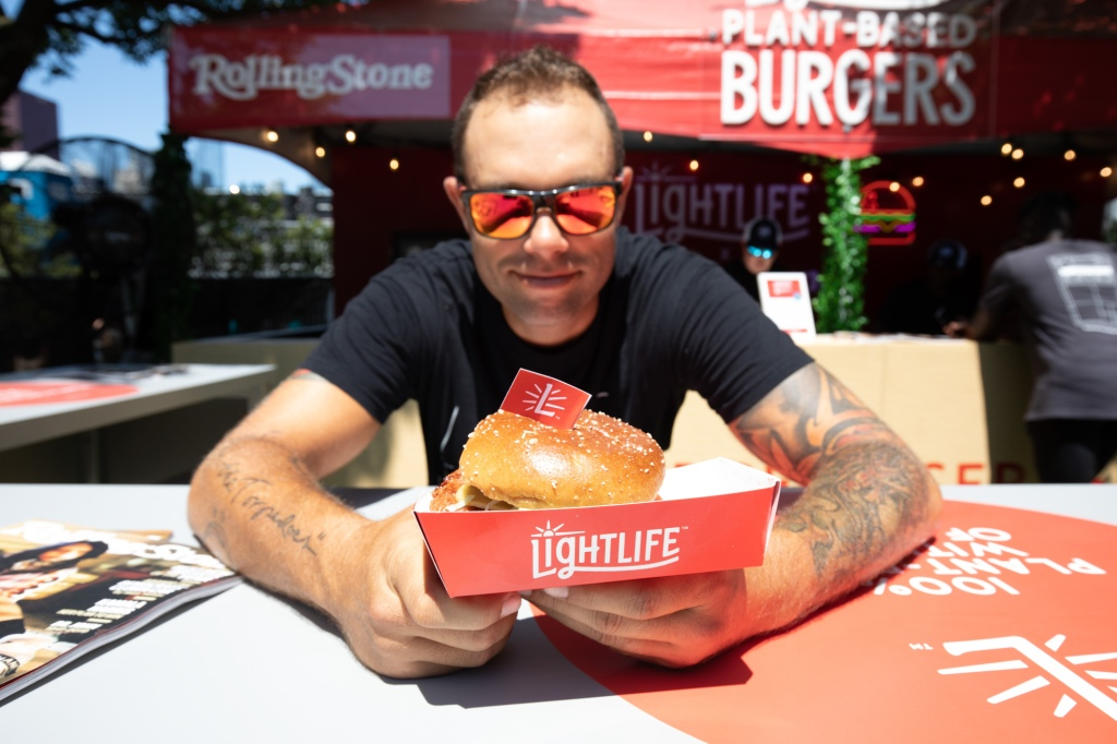 Stopping by for a mouth-watering plant-based burger. Paid partnership with Lightlife Foods.