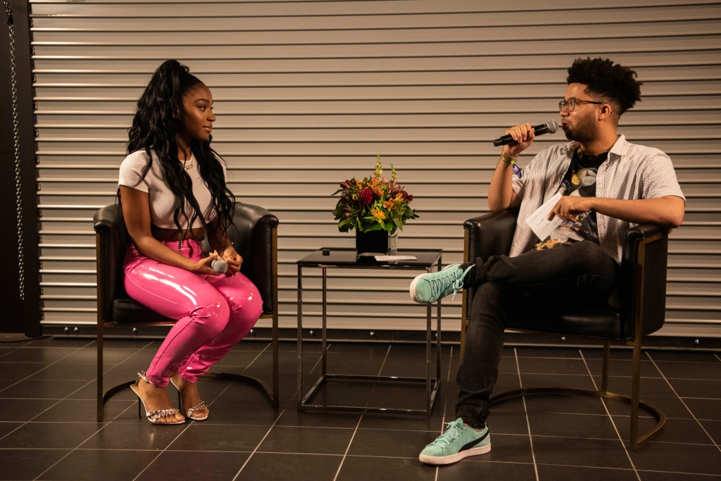 Rolling Stone writer Charles Holmes interviews Normani during Morning Sessions