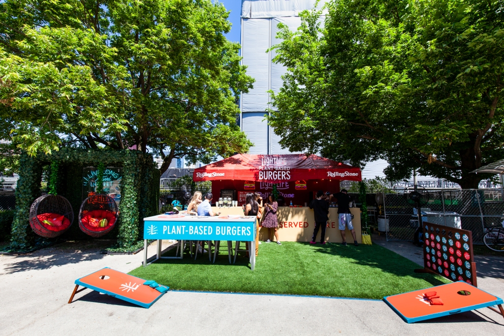 The Lightlife Lounge was nestled between trees in the South Artist Village, making for the perfect shady break spot. Paid partnership with Lightlife Foods.