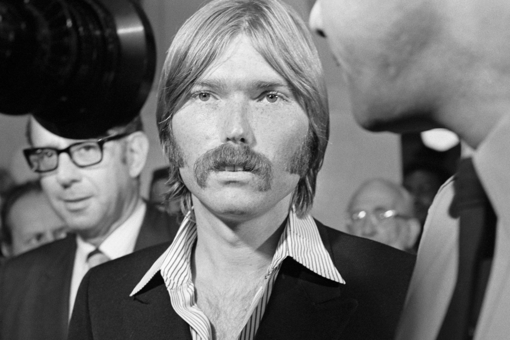 "Terrence P. ""Terry"" Melcher, 27-year-old son of actress Doris Day attends the Los Angeles County grand jury probe into the Sharon Tate murder case. Terry Melcher knew Charles Manson."