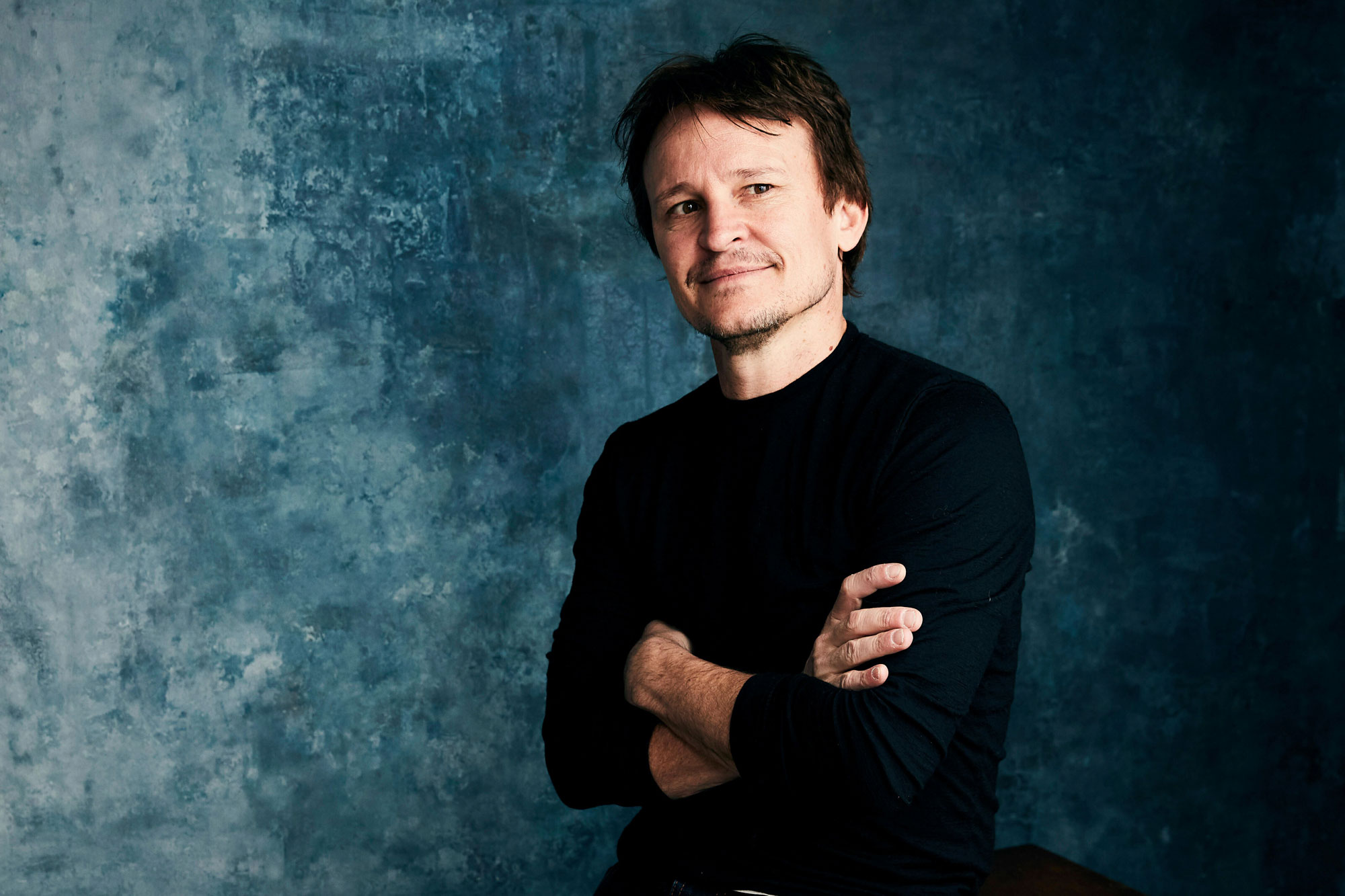 "Damon Herriman poses for a portrait to promote the film ""Judy and Punch"" at the Salesforce Music Lodge during the Sundance Film Festival, in Park City, Utah2019 Sundance Film Festival - ""Judy and Punch"" Portrait Session, Park City, USA - 28 Jan 2019"