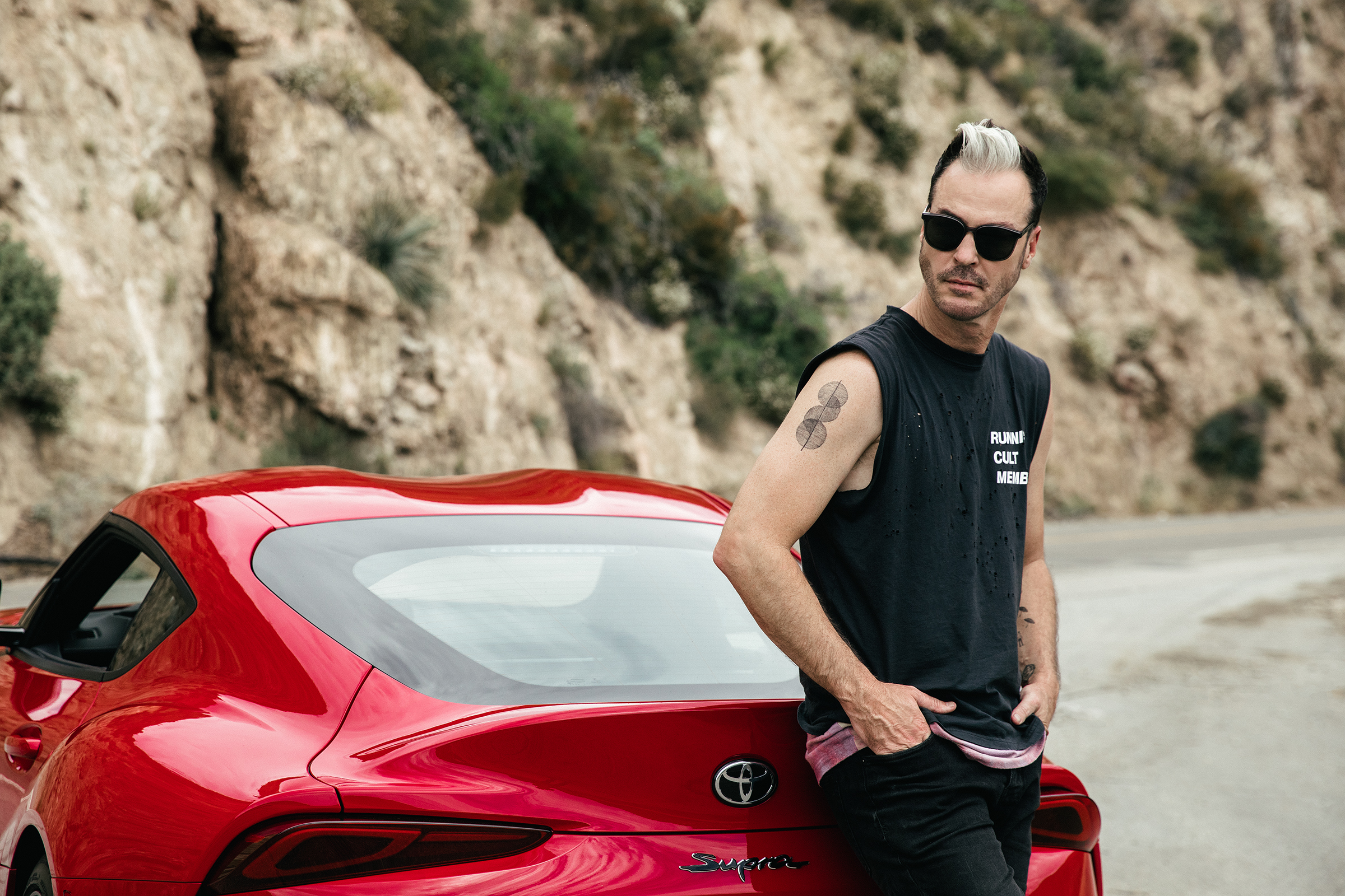 Michael Fitzpatrick of Fitz and the Tantrums in 2020 Toyota