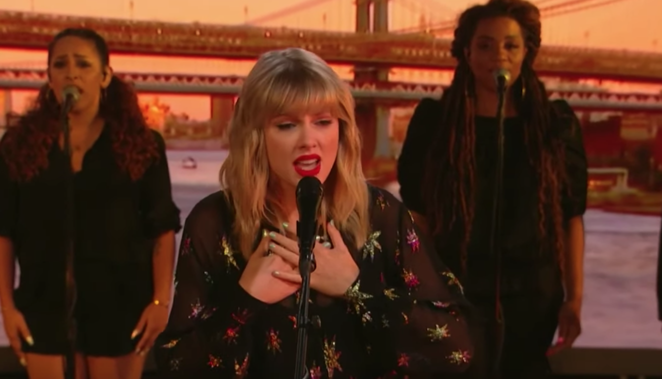 See Taylor Swift Cover Phil Collins' Classic 'Can't Stop