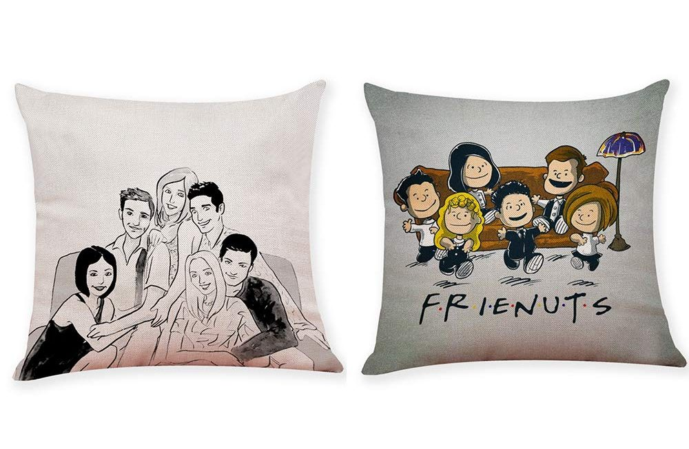 friends cast pillow cases peanuts
