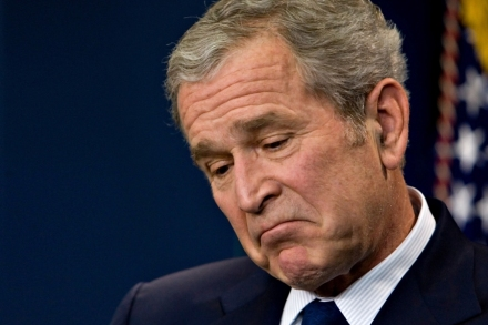 President George W. Bush reflects on a question as he holds his last formal news conference at the White House, in WashingtonBush, Washington, USA - 12 Jan 2009