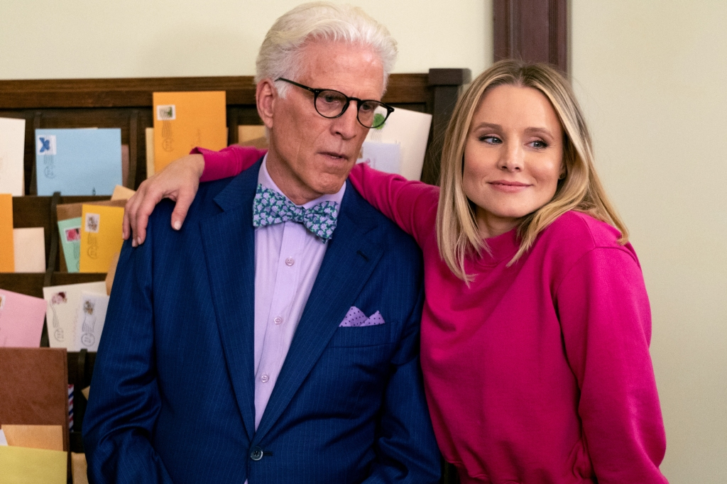 Pictured: (l-r) Ted Danson as Michael, Kristen Bell as Eleanor. Photo by Colleen Hayes/NBC