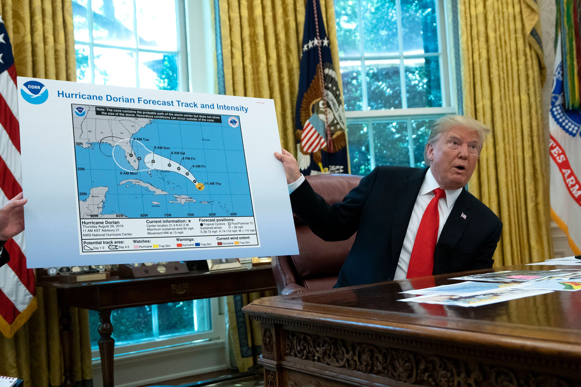 NOAA Staff Instructed Not to Contradict the President?s Sharpie Hurricane Forecasts