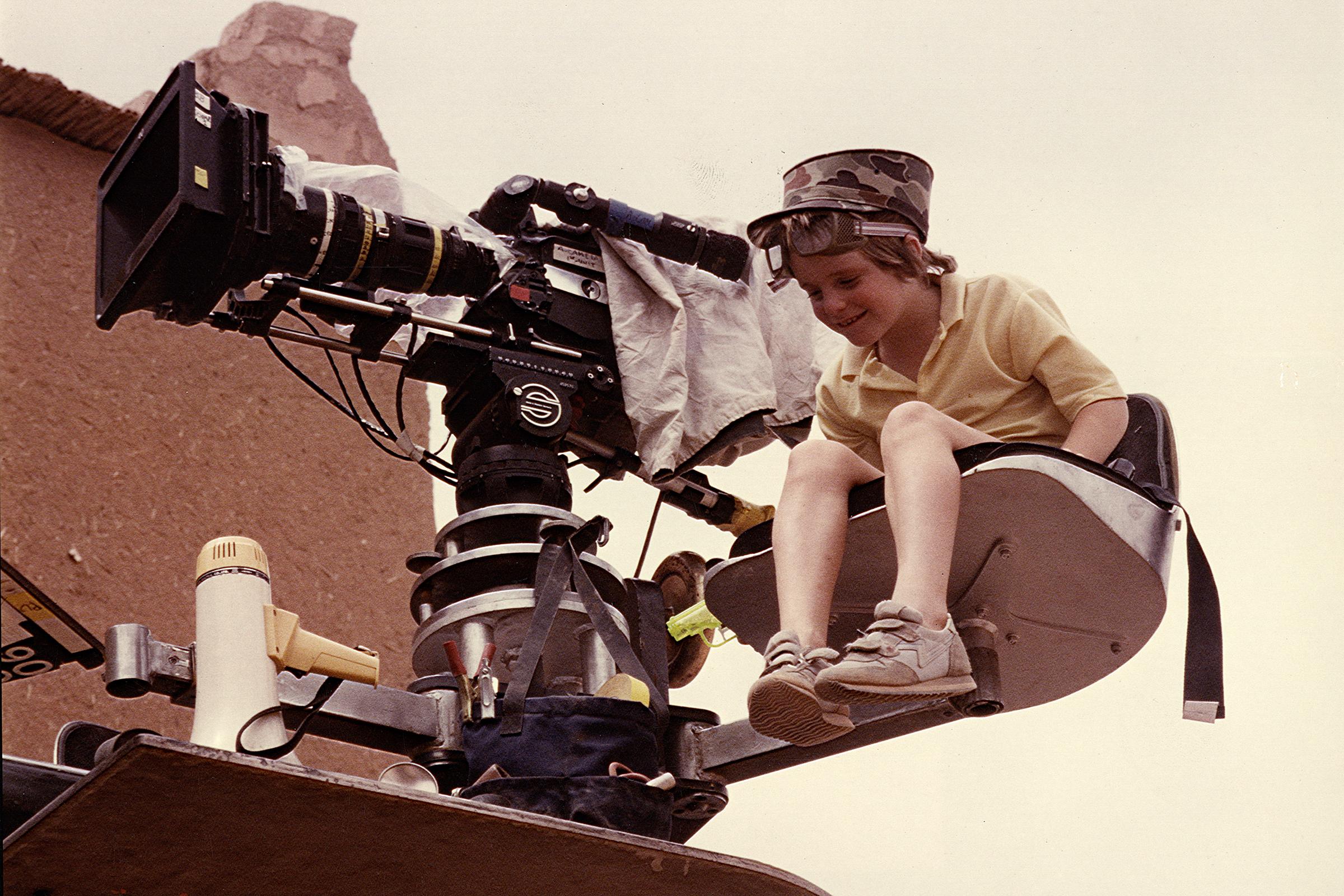 "Cameron Douglas on the set of ""The Jewel of the Nile,"" circa 1985."