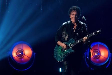 Inductee Neal Schon from the band Journey performs at the 2017 Rock and Roll Hall of Fame induction ceremony at the Barclays Center, in New York2017 Rock and Roll Hall of Fame Induction Ceremony - Show, New York, USA - 7 Apr 2017