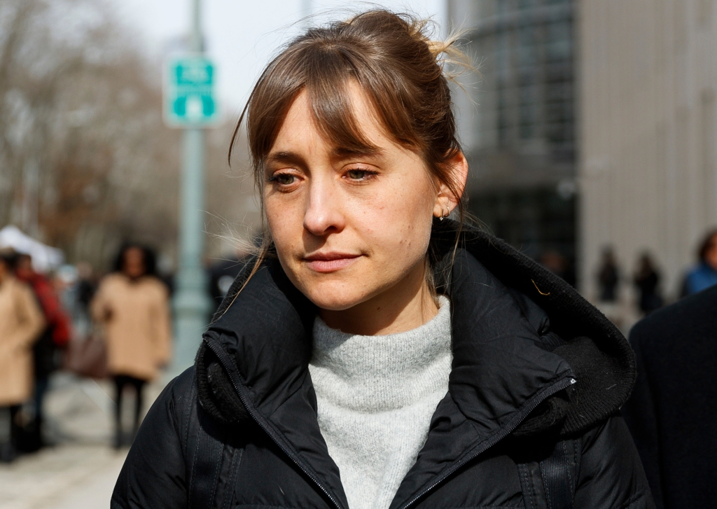 Actress Allison Mack departs United States Federal Court after a hearing in the case against her in which she is accused of helping to run the alleged sex cult in Brooklyn, New York on February 6th, 2019.