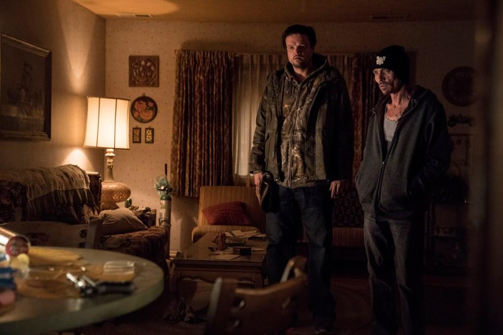 Matt Jones and Charles Baker in El Camino: A Breaking Bad Movie.