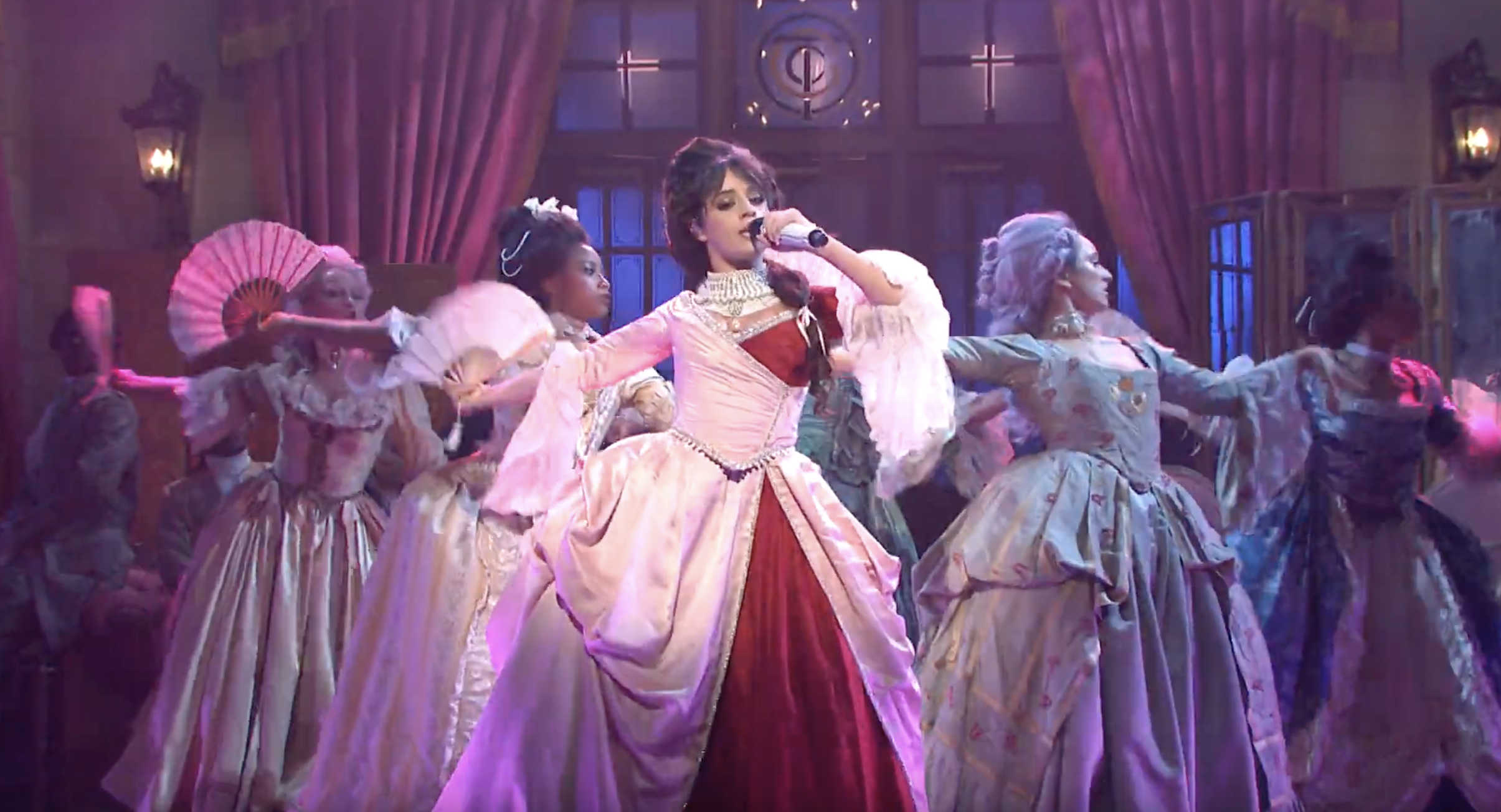 Snl Christmas Special 2019.See Camila Cabello Channel Marie Antoinette With Cry For Me
