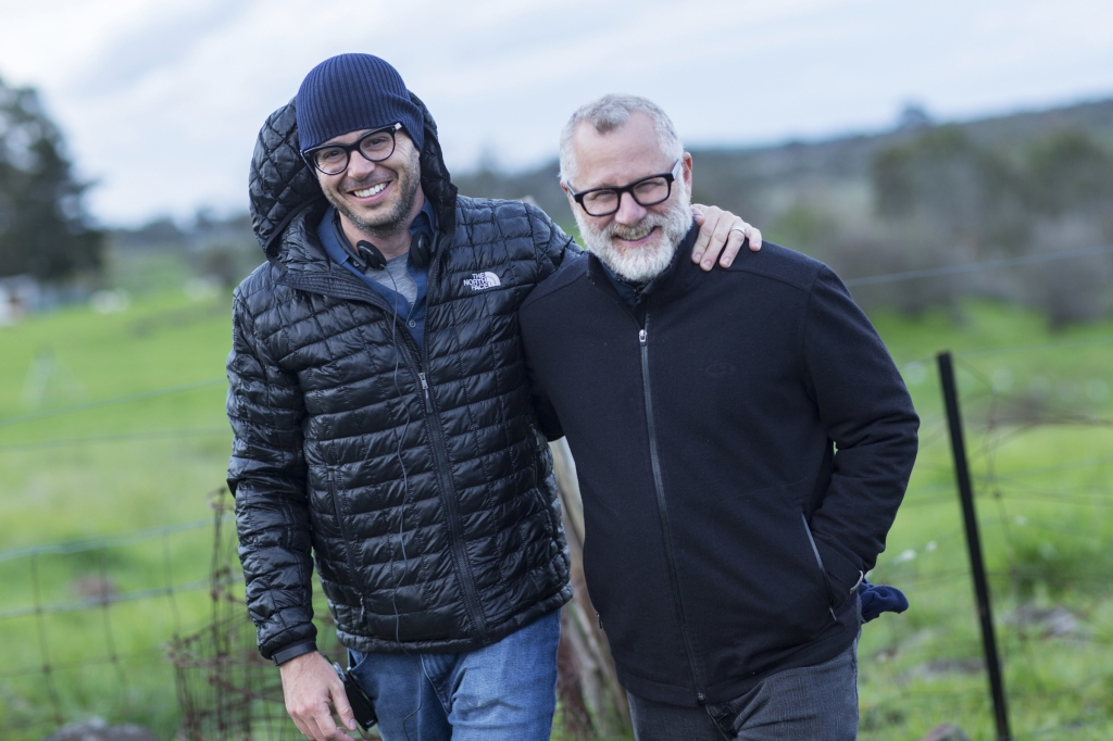 Damon Lindelof and Tom Perrotta behind the scenes of The Leftovers.