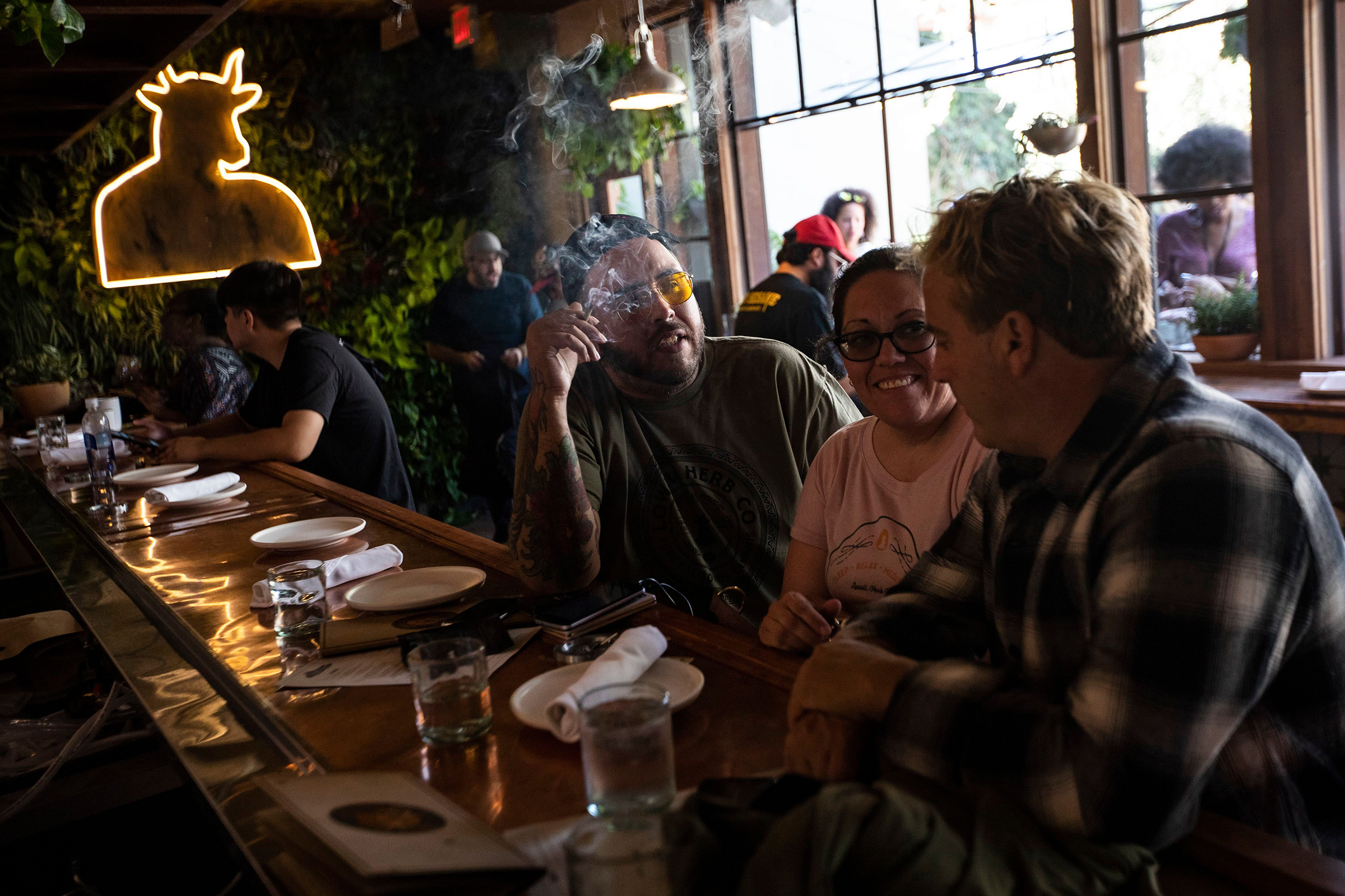 On the Scene at America's First Public Cannabis Cafe