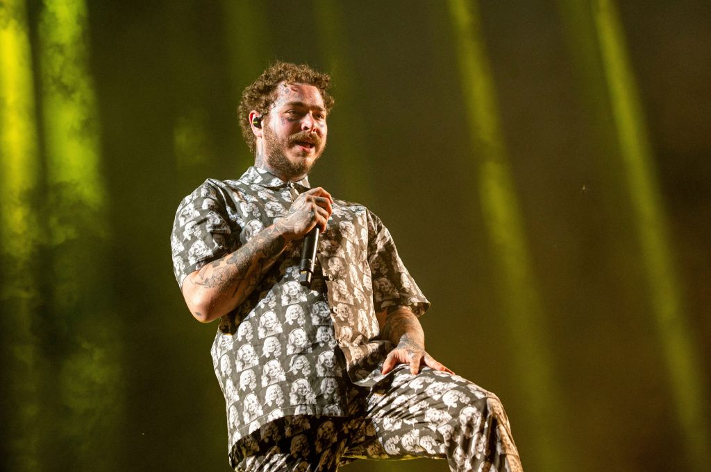 Post Malone performs at the Bonnaroo Music and Arts Festival, in Manchester, Tenn2019 Bonnaroo Music and Arts Festival - Day 3, Manchester, USA - 15 Jun 2019