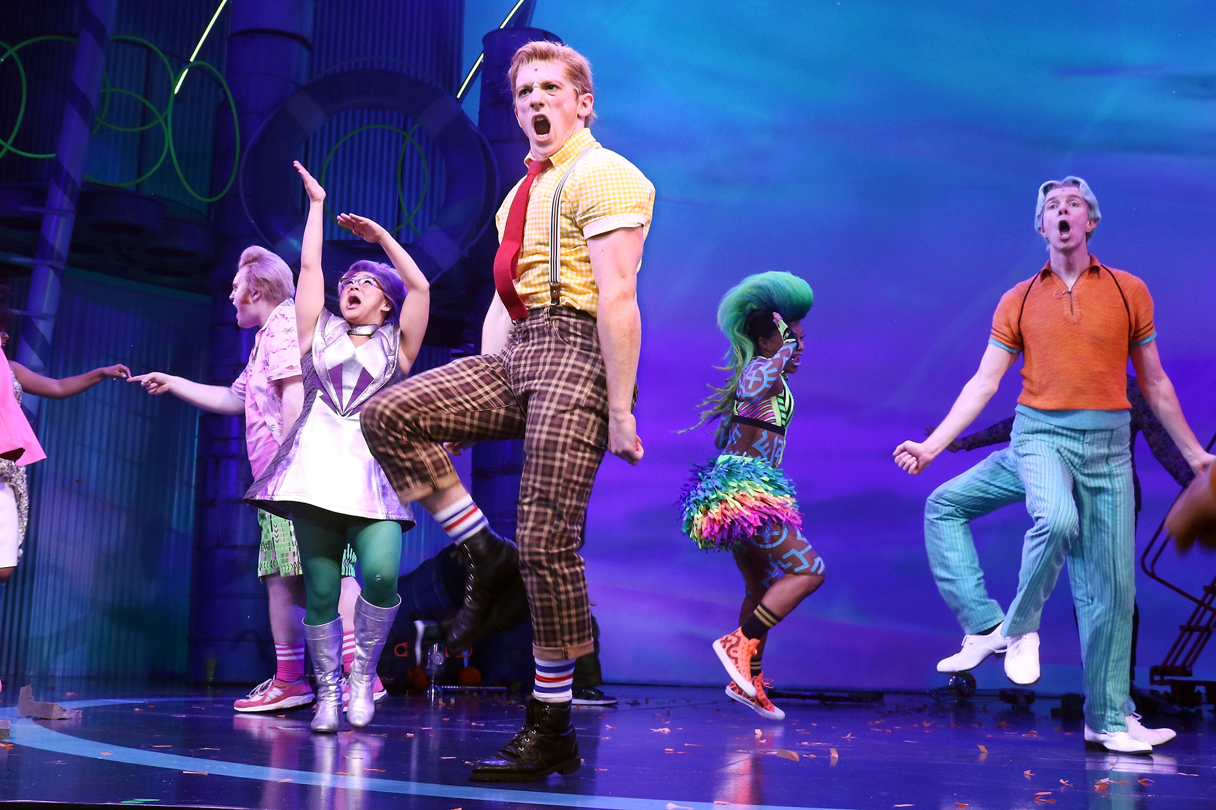 spongebob musical nickelodeon broadway stage performance televised cast air will utopia american byrne david squarepants stone theatre action television rollingstone