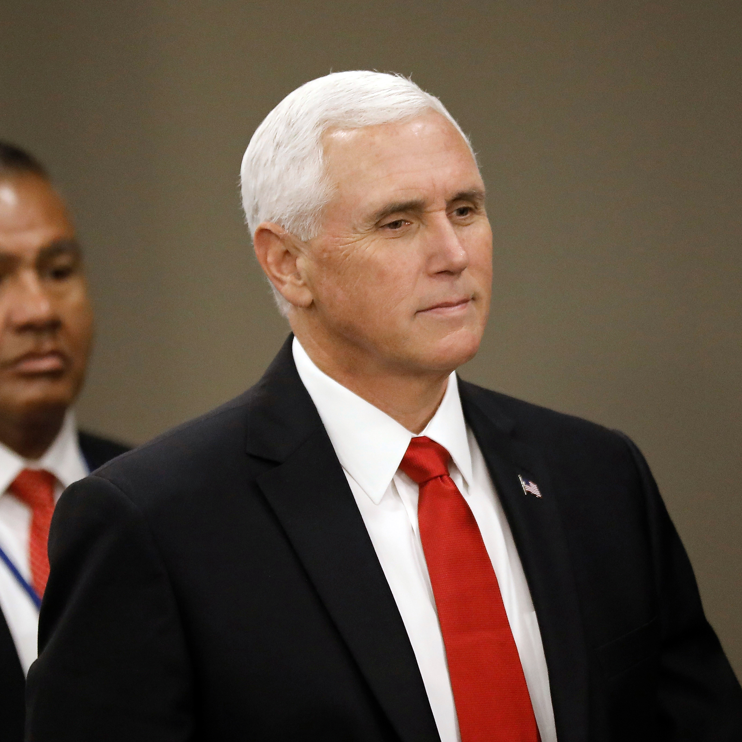 US Vice President Mike Pence arrives to the 74th session of the General Assembly of the United Nations at United Nations Headquarters in New York, New York, USA, 24 September 2019. The annual meeting of world leaders at the United Nations runs until 30 September 2019.General Debate of the 74th session of the General Assembly of the United Nations, New York, USA - 23 Sep 2019