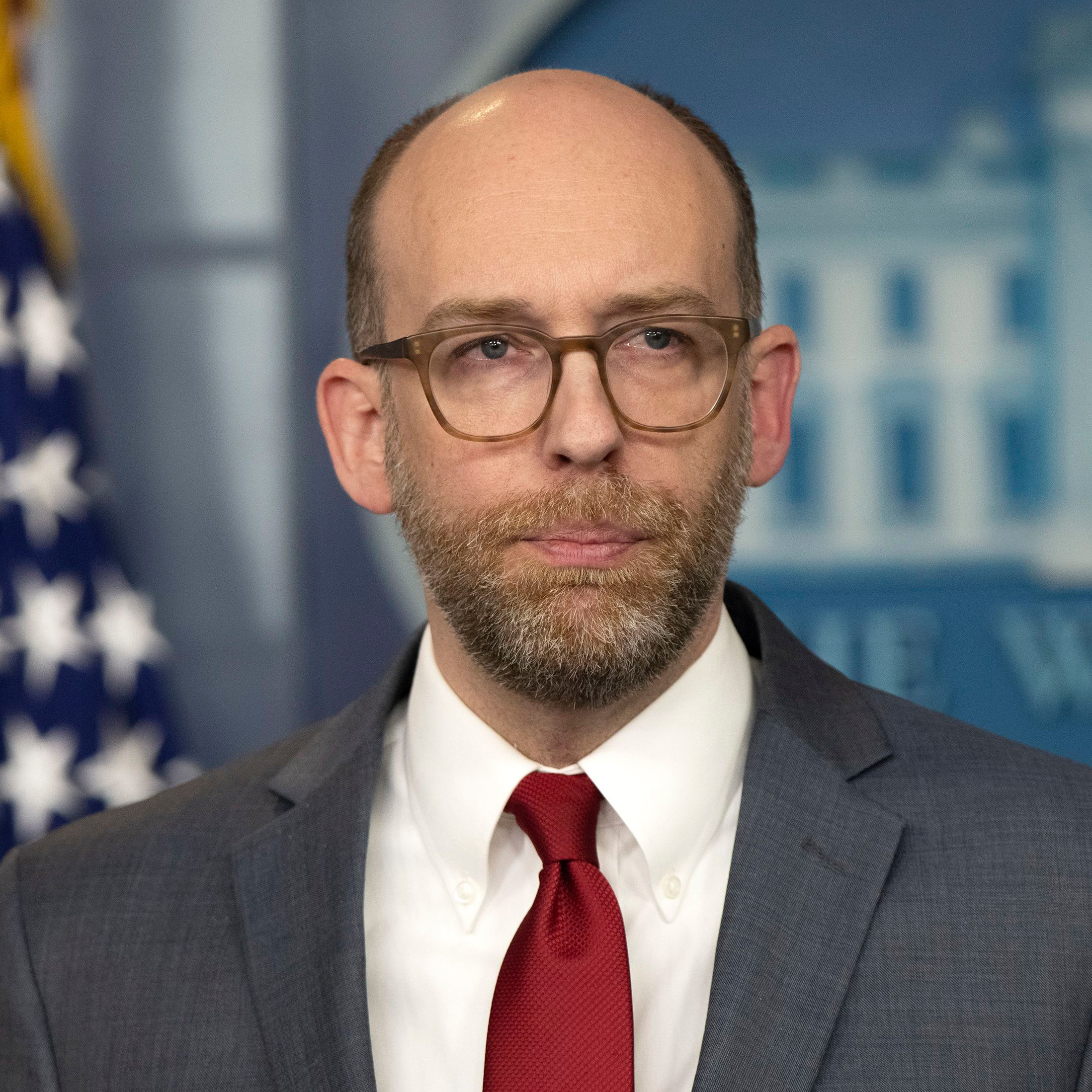 Office of Management and Budget (OMB) Acting Director Russell Vought briefs the media in the White House Brady Press Briefing RoomWhite House press briefing, Washington DC, USA - 11 Mar 2019