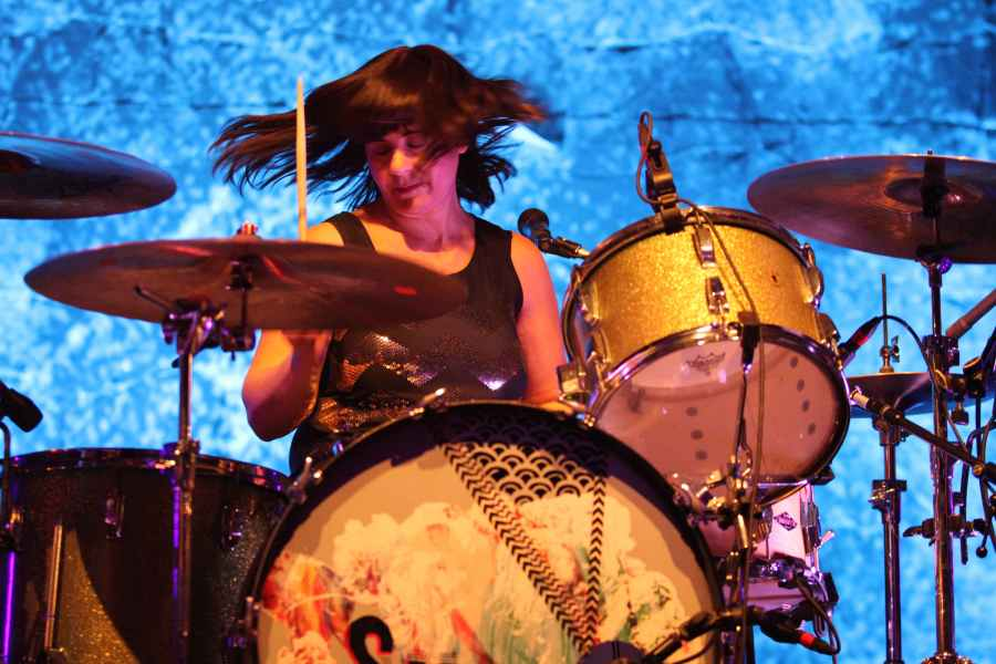 Janet Weiss with Sleater-Kinney performs at the Tabernacle, in AtlantaSleater-Kinney In Concert - , Atlanta, USA - 21 Apr 2015