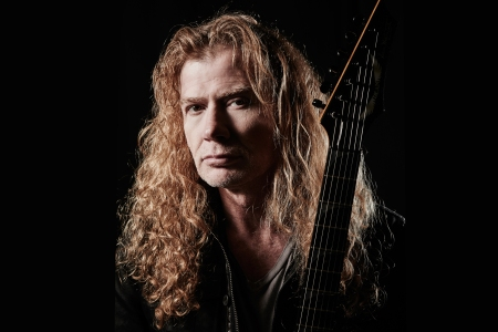 LONDON, UNITED KINGDOM - NOVEMBER 14: Portrait of American musician Dave Mustaine, guitarist and vocalist with thrash metal group Megadeth, photographed backstage before a live performance at Wembley Arena in London, on November 14, 2015. (Photo by Joseph Branston/Total Guitar Magazine/Future via Getty Images)
