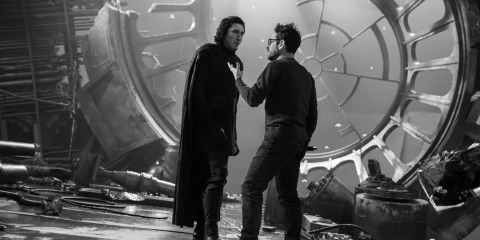 Adam Driver and J.J. Abrams on the set of STAR WARS:  THE RISE OF SKYWALKER