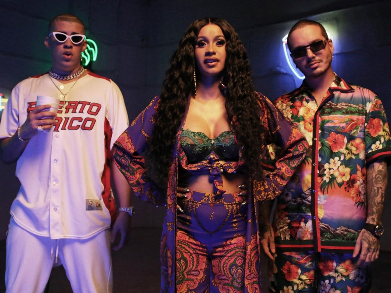 Cardi B 'I Like It' amp; Cardi B & J BalvinCardi B 'I Like It' music video on set filming, Miami, USA - 28 May 2018