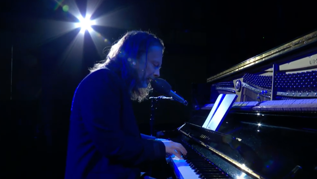 """Thom Yorke performs """"Daily Battles"""" on """"The Late Show."""""""