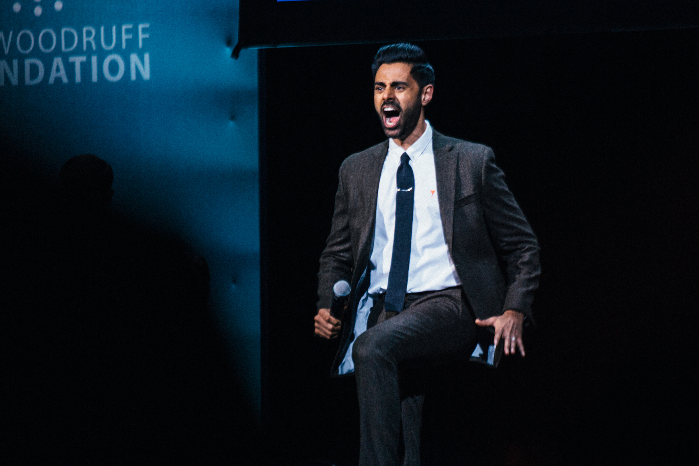 Hasan Minhaj performs during the 13th Annual Stand Up For Heroes benefit at the Hulu Theater at Madison Square Garden in New York City on November 4, 2019