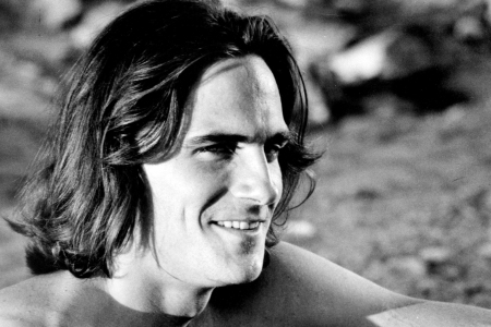 """1971:  A racing driver played by James Taylor  in a scene from the movie """"Two-Lane Blacktop"""" which was released in 1971. (Photo by Michael Ochs Archives/Getty Images)"""