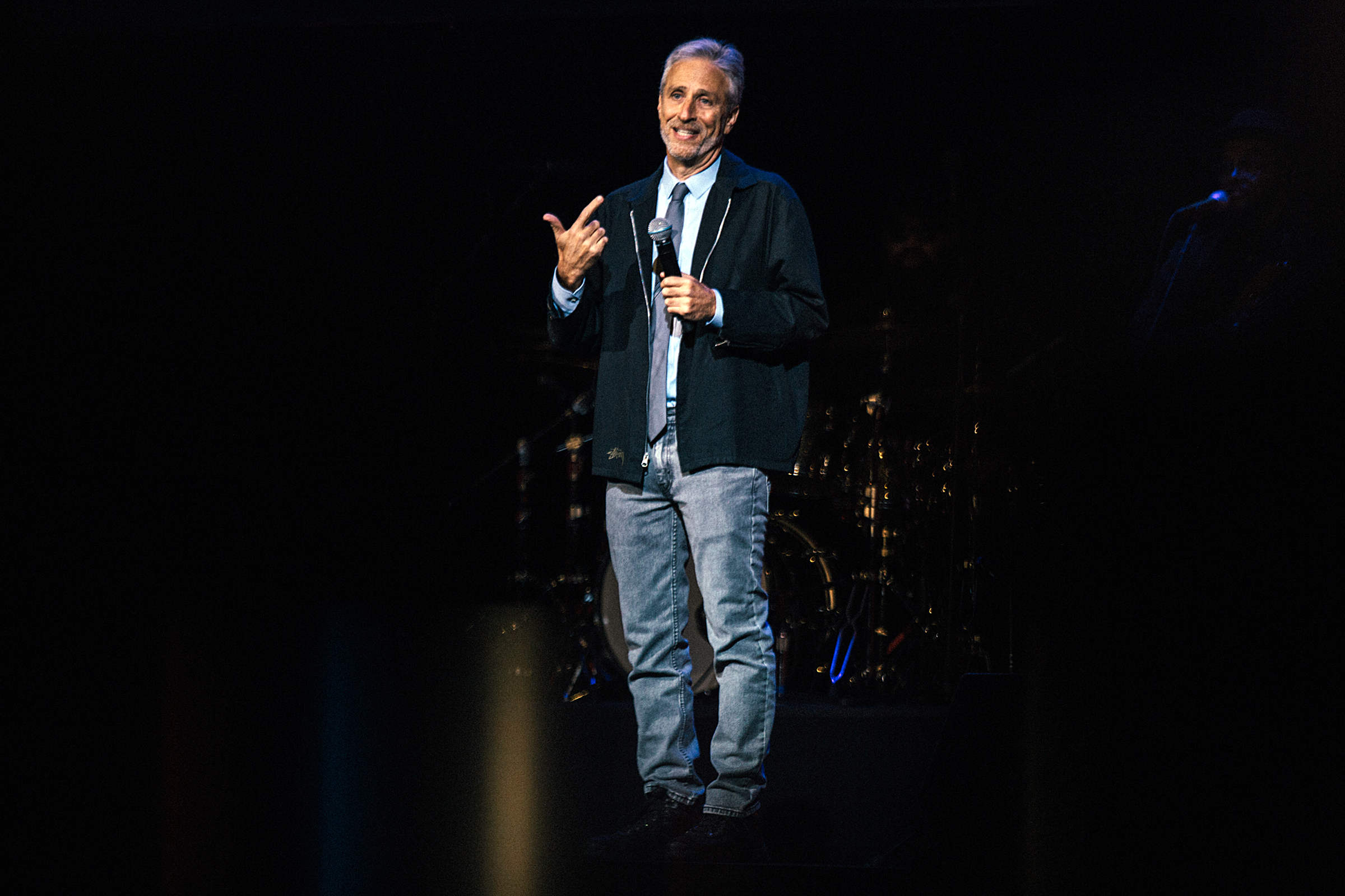 Jon Stewart performs during the 13th Annual Stand Up For Heroes benefit at the Hulu Theater at Madison Square Garden in New York City on November 4, 2019