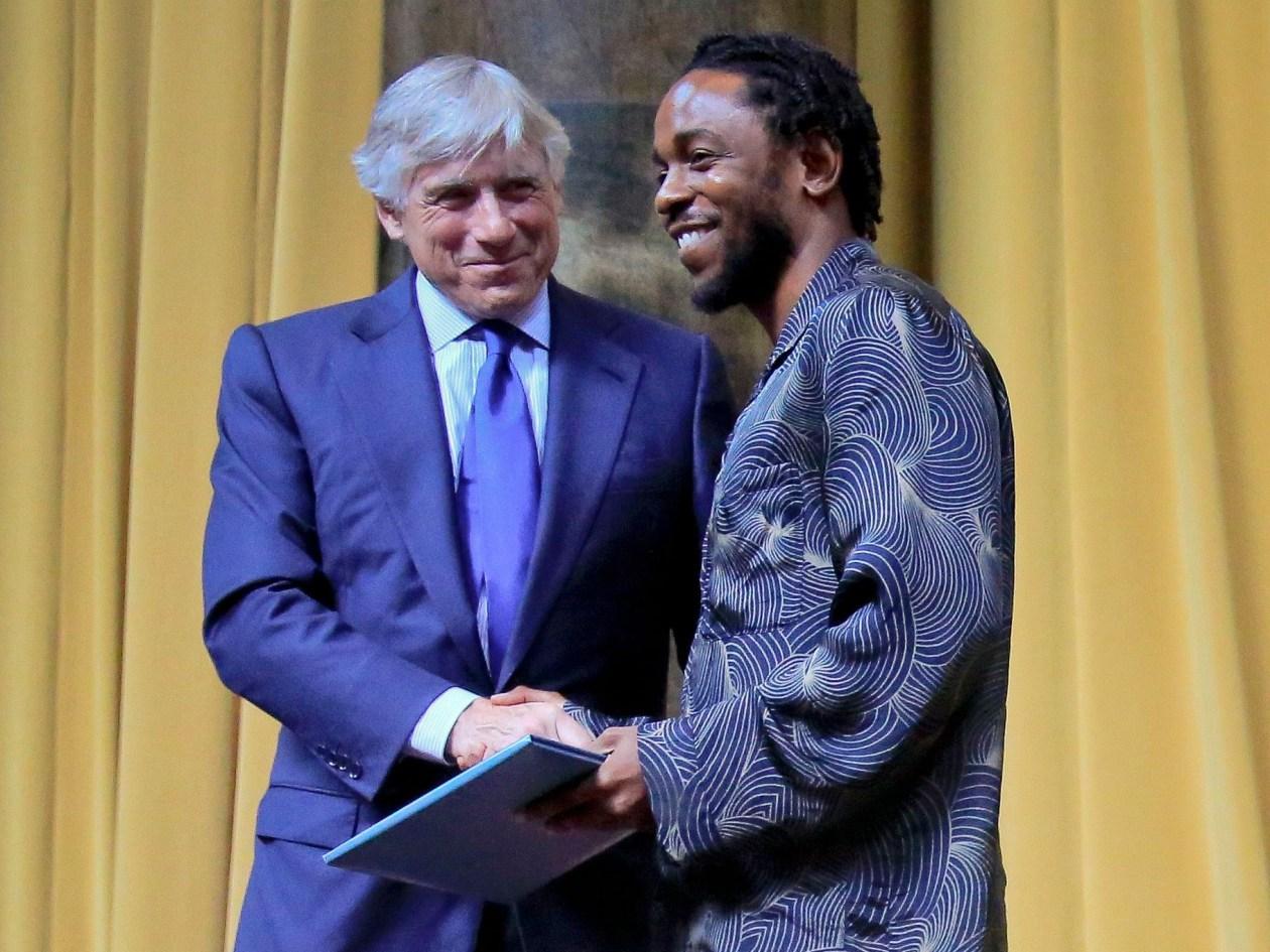 Pulitzer Prize winner for music Kendrick Lamar,