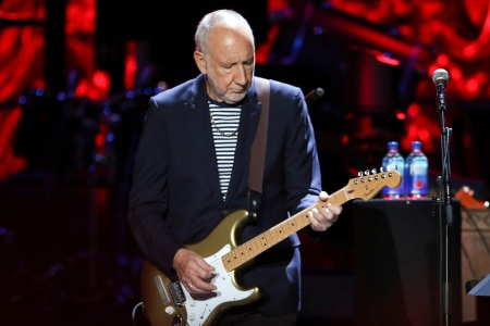 Pete Townshend with The Who performs during the Moving On! Tour at State Farm Arena, in AtlantaMoving On! Tour - , Atlanta, USA - 18 Sep 2019