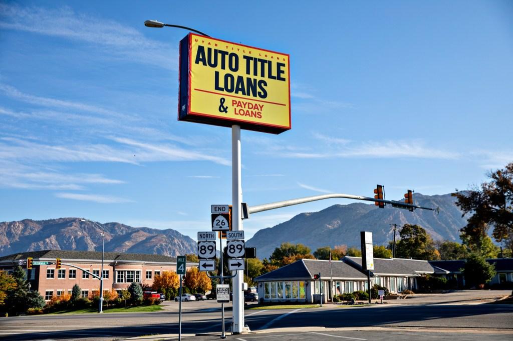 Utah Title Loans in Ogden, UT on October 15, 2019.Kim Raff for ProPublica