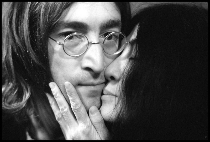 """milk and honey // John Lennon and Yoko Ono, 1968. """"Photographing Mick Jagger was a huge fucking deal,"""" says Russell. """"John Lennon was that on steroids."""""""