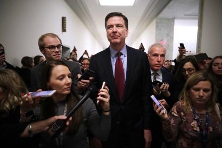 Former Federal Bureau of Investigation Director James Comey