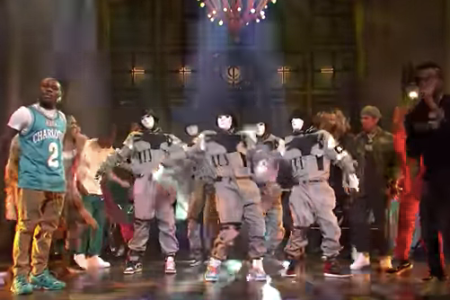 Watch DaBaby Perform 'Bop' With Dance Crew the Jabbawockeez on 'SNL'