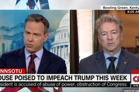 Rand Paul's Defense of Trump on Corruption Goes Down in Flames During Contentious Interview