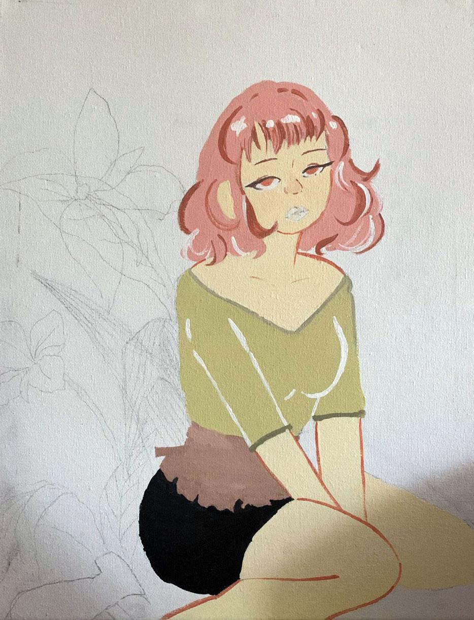 A sample of Bianca's artwork.