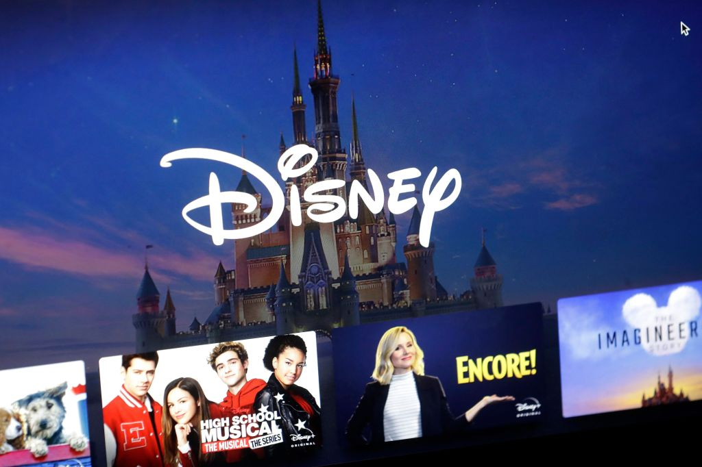 Elizabeth Warren. A Disney logo forms part of a menu for the Disney Plus movie and entertainment streaming service on a computer screen in Walpole, Mass. Disney Plus says it doesn't have a security breach, but some users of the new streaming service have been shut out after hackers tried to break into their accountsDisney Plus Security, Walpole, USA - 13 Nov 2019