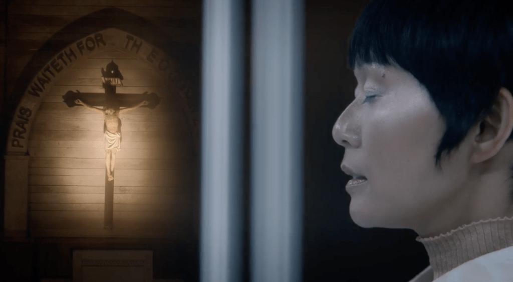 Hong Chau in a screencap from the 'Watchmen' finale