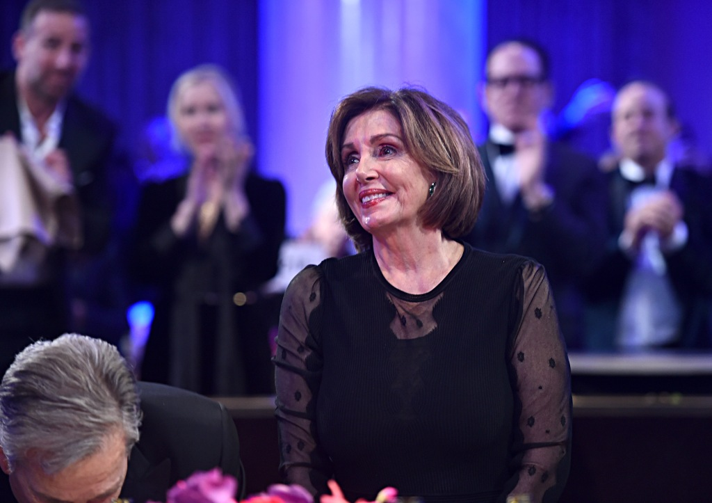 "BEVERLY HILLS, CALIFORNIA - JANUARY 25: Nancy Pelosi attends the Pre-GRAMMY Gala and GRAMMY Salute to Industry Icons Honoring Sean ""Diddy"" Combs on January 25, 2020 in Beverly Hills, California. (Photo by Alberto E. Rodriguez/Getty Images for The Recording Academy)"