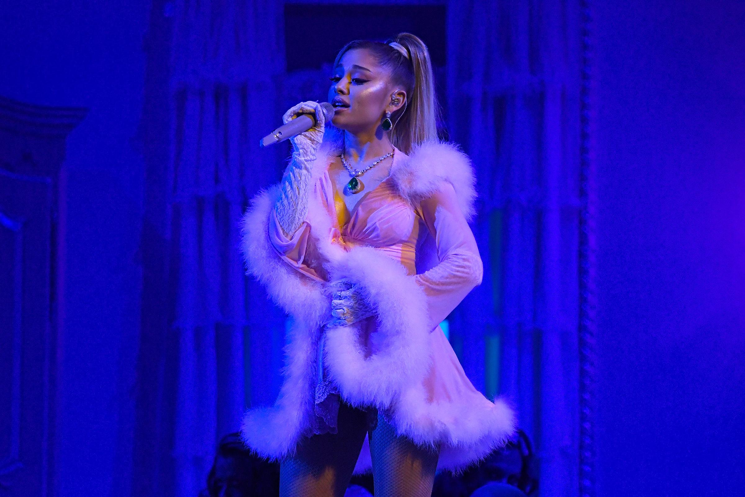 ariana grande performs thank u next album medley at 2020 grammys rolling stone ariana grande performs thank u next album medley at 2020 grammys rolling stone