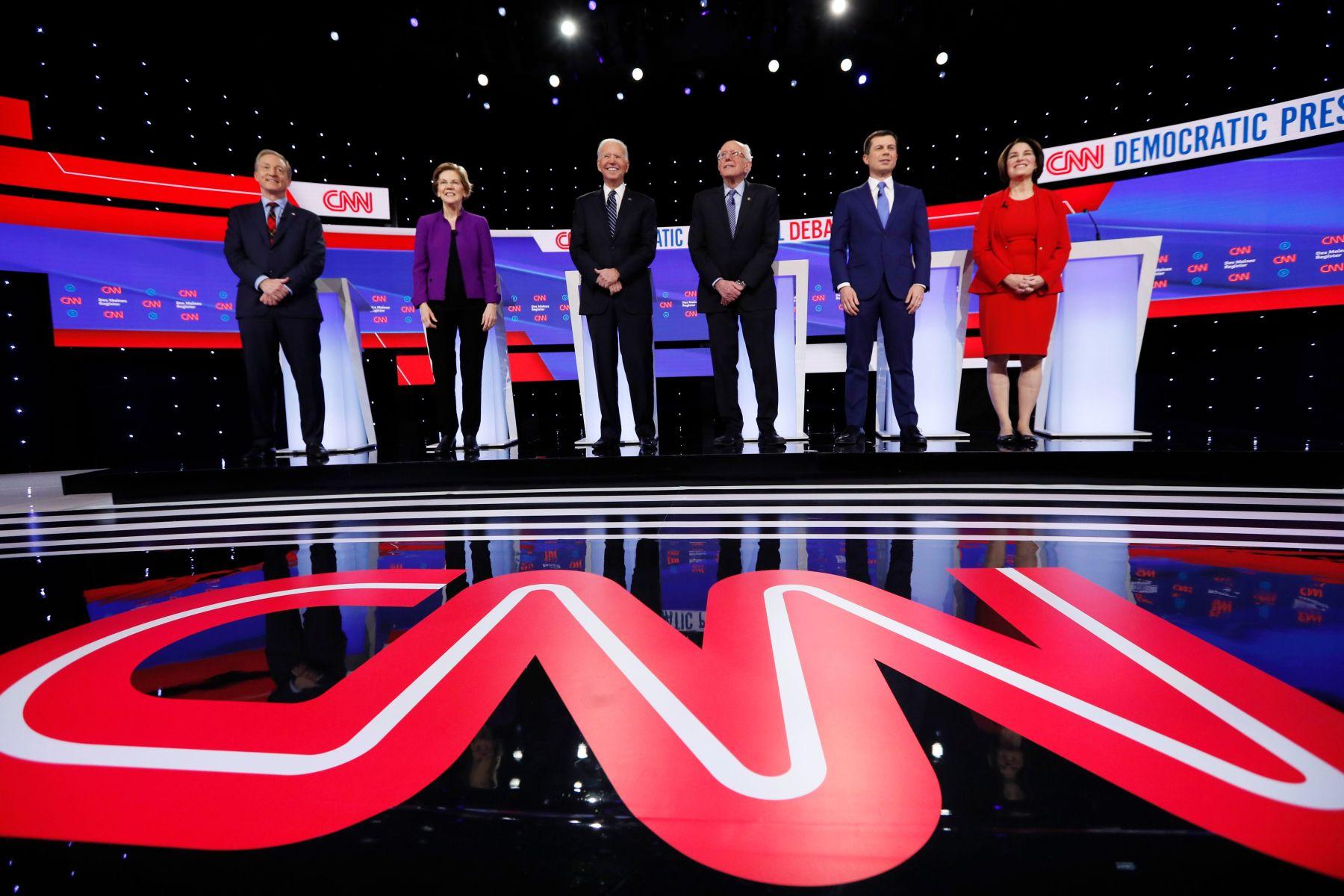 CNN's Democratic debate stage