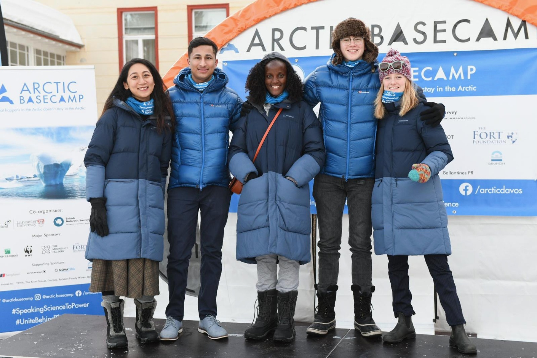 Youth Climate Delegates at the Arctic Basecamp in Davos, Switzerland, during the 2020 World Economic Forum.