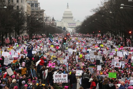 National Archives Censors Anti-Trump Portions of Women's March Photo