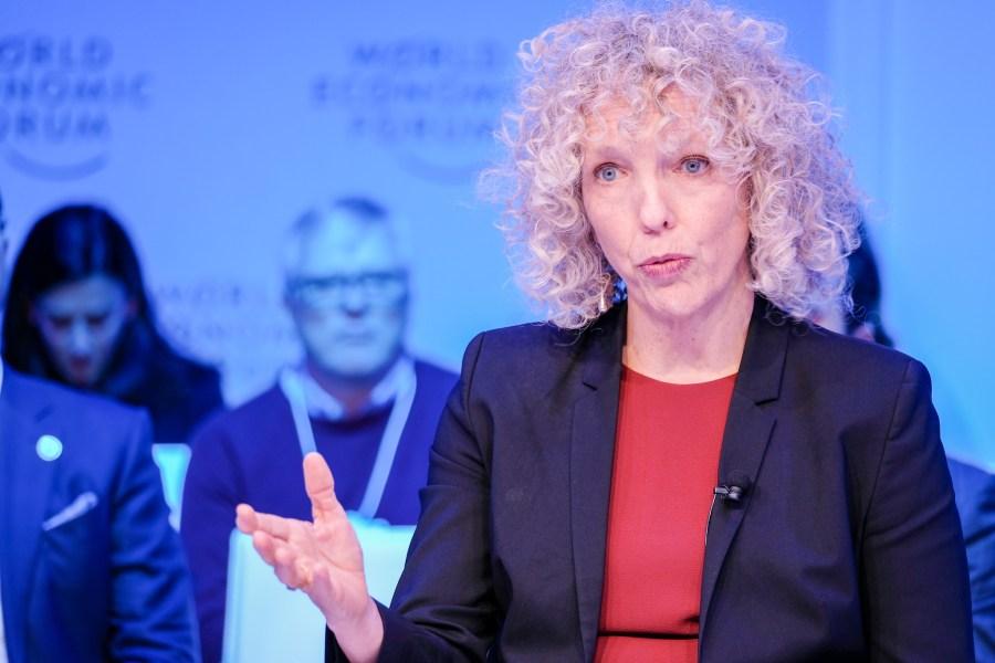 Greenpeace International Executive Director Jennifer Morgan speaks at the 2020 World Economic Forum in Davos, Switzerland.