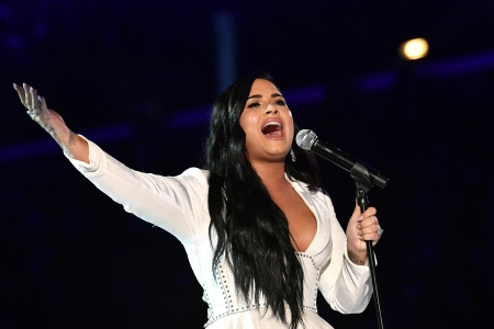 Watch Demi Lovato Perform the National Anthem at Super Bowl 54