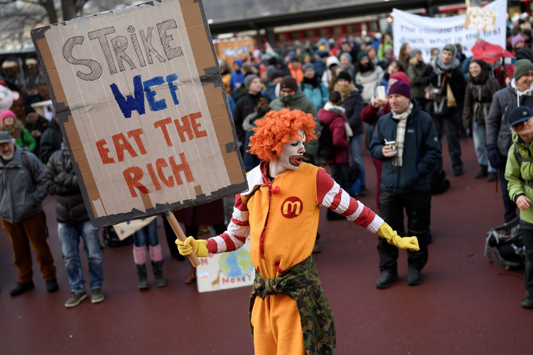 World Economic Forum 2020: Protestors Block Road to Davos - Rolling Stone