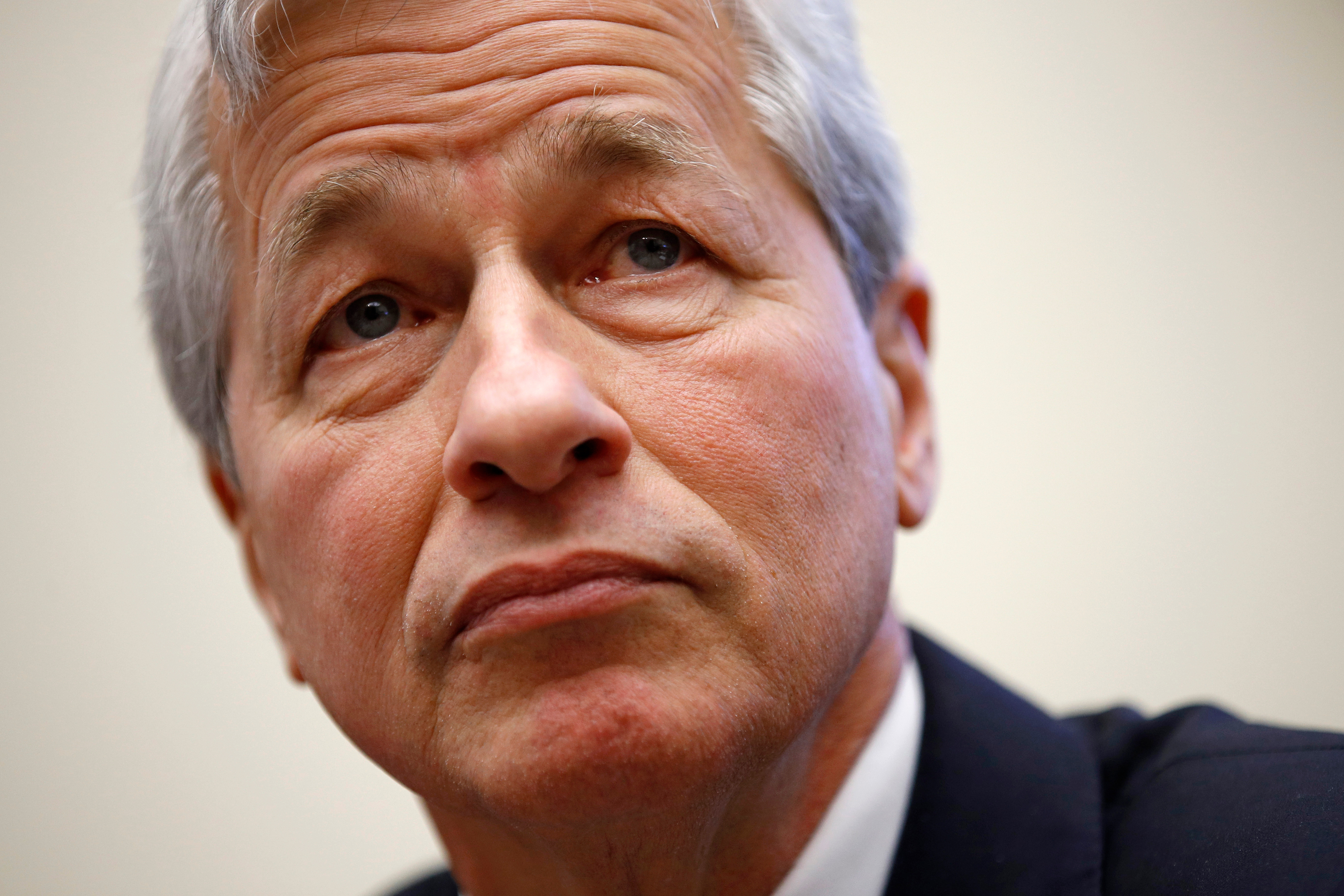 JPMorgan Chase chairman and CEO Jamie Dimon testifies before the House Financial Services Committee during a hearing, on Capitol Hill in WashingtonBig Banks Congress, Washington, USA - 10 Apr 2019