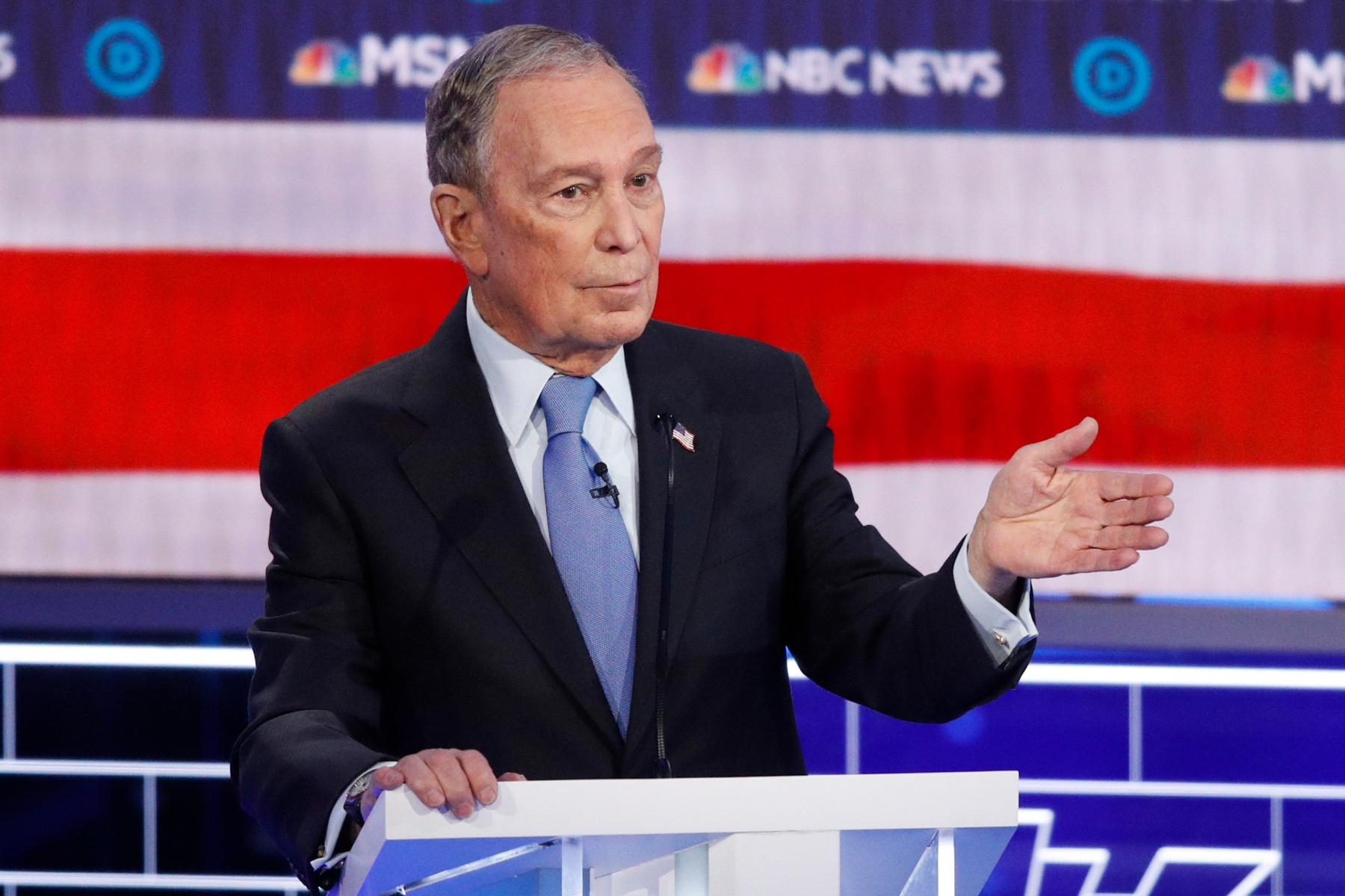 Democratic presidential candidate, former New York City Mayor Michael Bloomberg speaks during a Democratic presidential primary debate, in Las Vegas, hosted by NBC News and MSNBCElection 2020 Debate, Las Vegas, USA - 19 Feb 2020